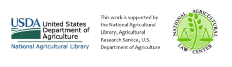USDA National Agricultural Library and National Agricultural Law Center logos