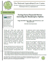 Facing Farm Financial Stress Law Bulletin