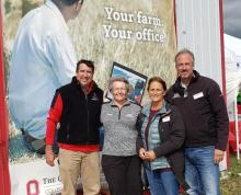 Farm Office team of David Marrison, Dianne Shoemaker, Peggy Kirk Hall and Barry Ward at OSU's Farm Science Review 2021.