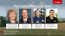 OSU's Farm Office Live team of Dianne Shoemaker, Barry Ward, Peggy Kirk Hall and David Marrison