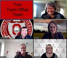 Farm Office Team on Zoom Webinar