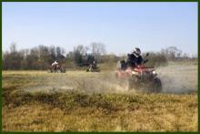 ATVs in field