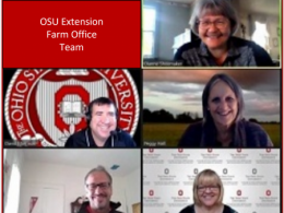 Photo of the Farm Office Team employees on a Zoom