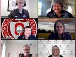 OSU's Farm Office Team Members Ben Brown, Dianne Shoemaker, David Marrison, Peggy Kirk Hall, Barry Ward, Julie Strawser