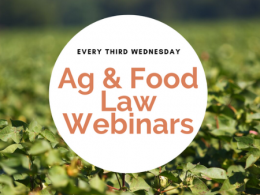 Ag and Food Law Webinars
