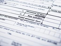 Photo of a tax form. Photo by Thinkstock